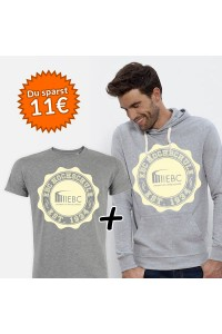 Bundle mit Hoodie in der Farbe Heather Grey